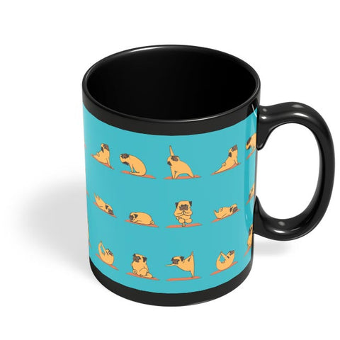 PUG YOGA Black Coffee Mug Online India