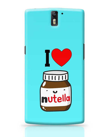 Nutella Love OnePlus One Covers Cases Online India