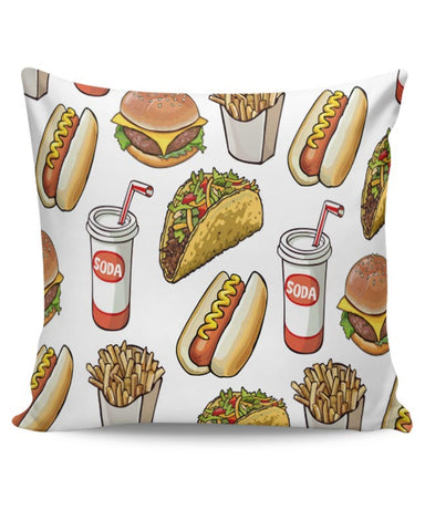 Food Pattern Cushion Cover Online India