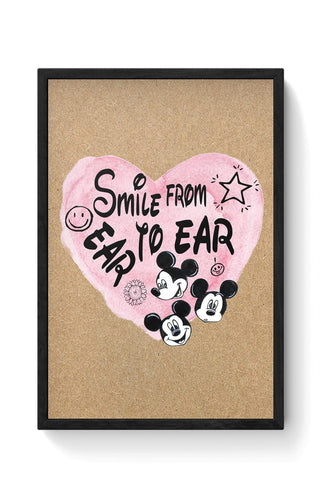 Smile From Ear To Ear Framed Poster Online India