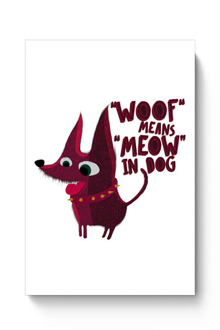 Buy Woof Poster
