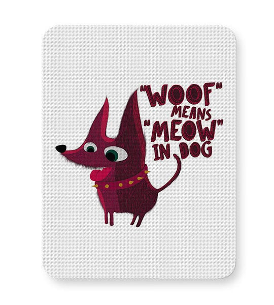 Woof Mousepad Online India