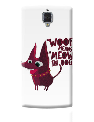 Woof OnePlus 3 Covers Cases Online India