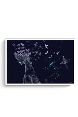 Buy Butterfly, Abstract, Night, Woman, Free, Posterguy Poster