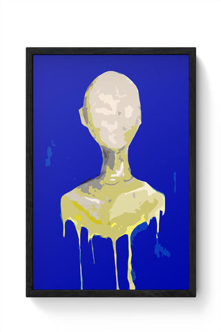 Faceless, Melting,Art,Portrait,Posterguy Framed Poster Online India