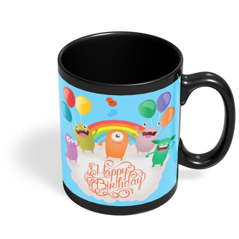 Happy Birthday Black Coffee Mug Online India