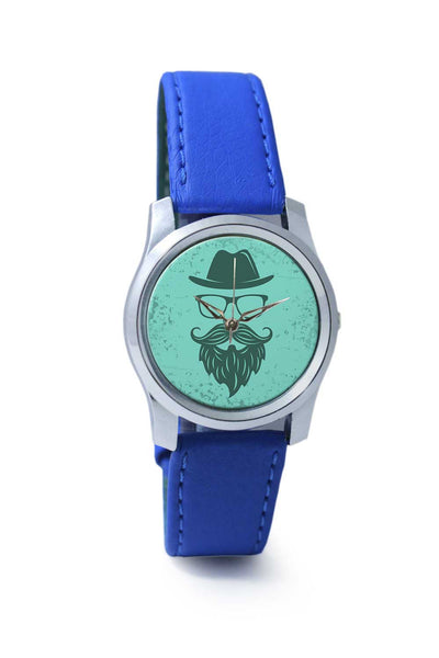Women Wrist Watch India | Vintage Green Hipster with Spectacles and Hat Wrist Watch Online India