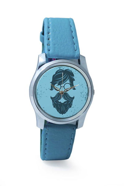 Women Wrist Watch India | Vintage Blue Hipster with Round Spectacles Wrist Watch Online India