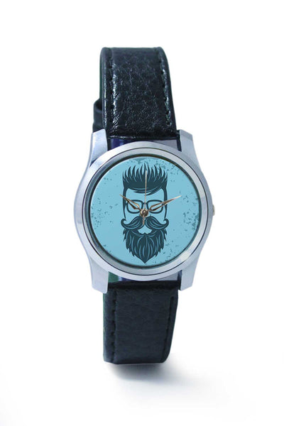 Women Wrist Watch India | Vintage Blue Hipster with Spectacles Wrist Watch Online India