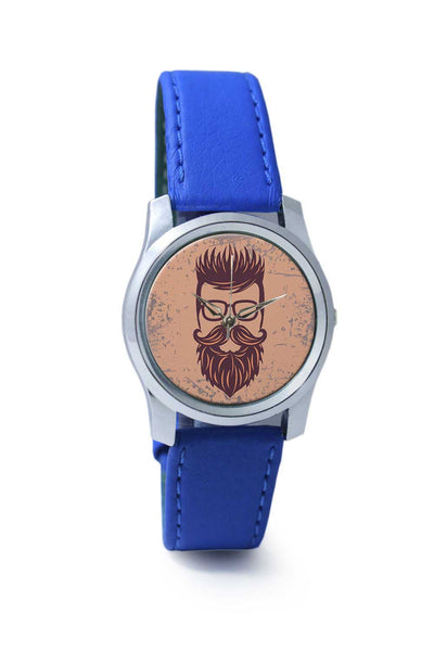 Women Wrist Watch India | Vintage Maroon Hipster with Spectacles Wrist Watch Online India