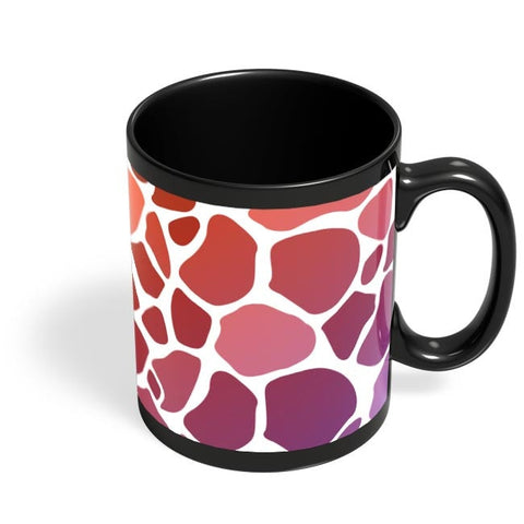 Abstract Giraffe Print Black Coffee Mug Online India