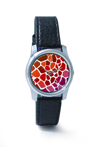 Women Wrist Watch India | Abstract Giraffe Print Wrist Watch Online India