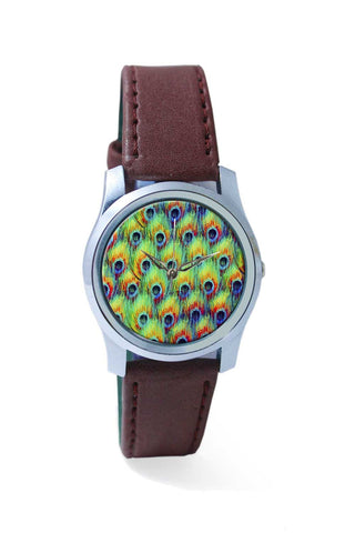 Women Wrist Watch India | Abstract Peacock Print Wrist Watch Online India