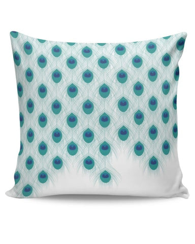 Abstract Peacock Feathers Print Cushion Cover Online India