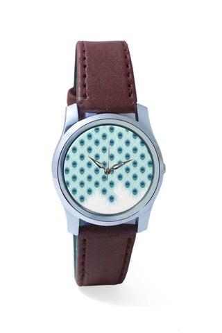 Women Wrist Watch India | Abstract Peacock Feathers Print Wrist Watch Online India