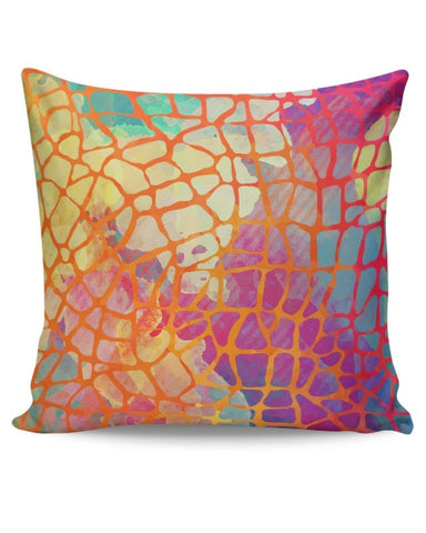 Abstract Rainbow Animal Print Cushion Cover Online India