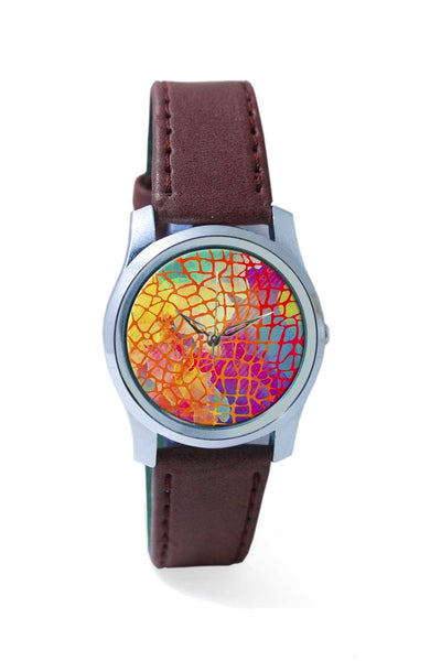 Women Wrist Watch India | Abstract Rainbow Animal Print Wrist Watch Online India