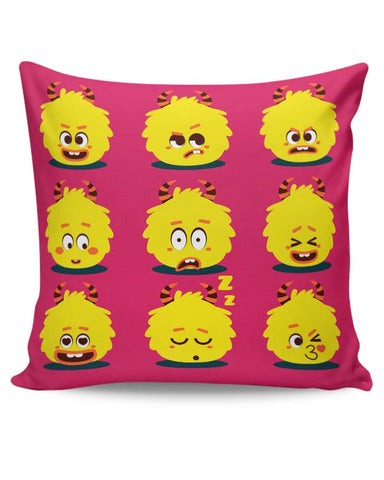 fluffy moody emoji Cushion Cover Online India
