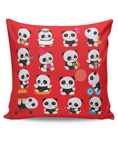 Panda Family Cushion Cover Online India