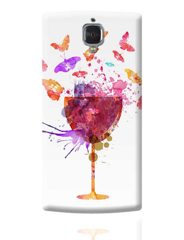 Butterfly Wine Glass OnePlus 3 Covers Cases Online India