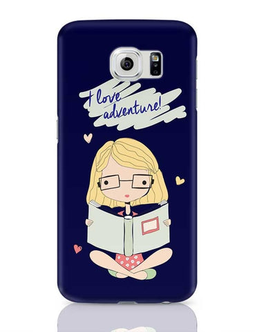 """I  Love Adventure "" Blue Background Samsung Galaxy S6 Covers Cases Online India"