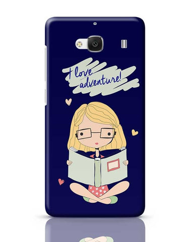"""I  Love Adventure "" Blue Background Redmi 2 / Redmi 2 Prime Covers Cases Online India"