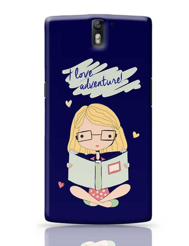 """I  Love Adventure "" Blue Background OnePlus One Covers Cases Online India"