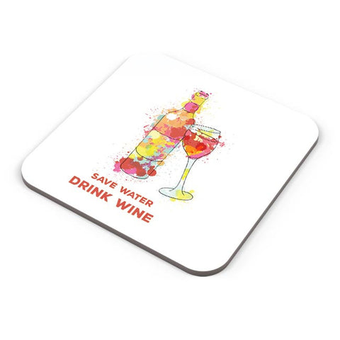 Save Water Drink Wine Coaster Online India