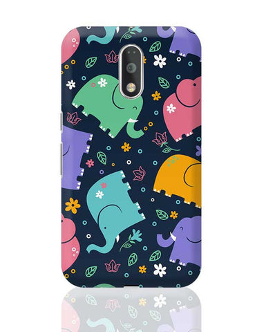 Colorful Elephant Moto G4 Plus Online India