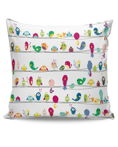 Colorful Birds Cushion Cover Online India
