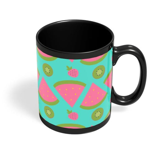 """Watermelon "" sky blue backgrond Black Coffee Mug Online India"