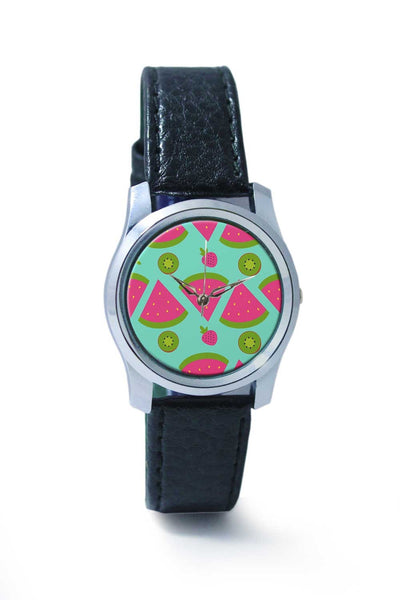 "Women Wrist Watch India | ""Watermelon "" sky blue backgrond Wrist Watch Online India"