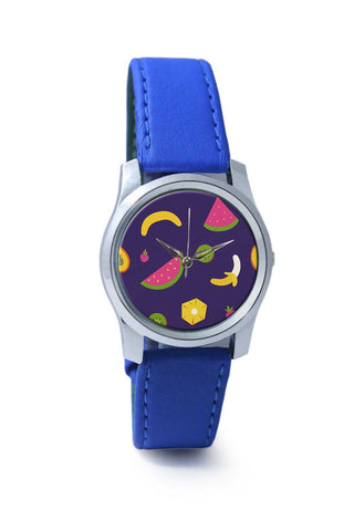 "Women Wrist Watch India | ""Watermelon "" blue backgrond Wrist Watch Online India"