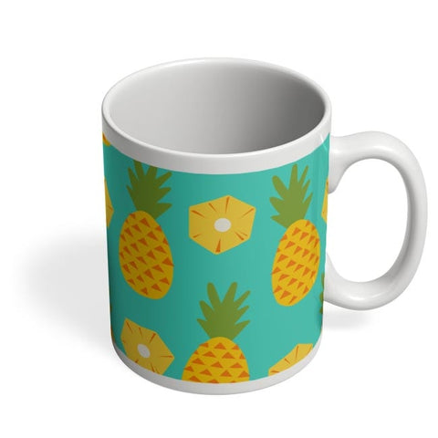 """Pineapple"" Sky Blue background Coffee Mug Online India"