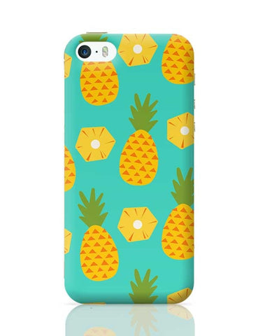 """Pineapple"" Sky Blue background iPhone 5/5S Covers Cases Online India"