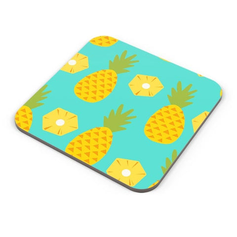 """Pineapple"" Sky Blue background Coaster Online India"