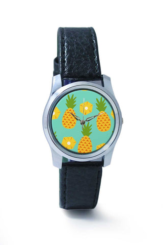 "Women Wrist Watch India | ""Pineapple"" Sky Blue background Wrist Watch Online India"