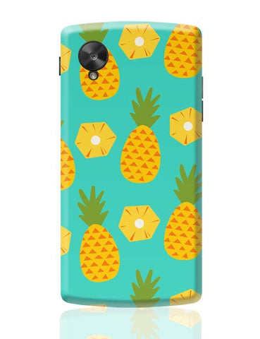 """Pineapple"" Sky Blue background Google Nexus 5 Covers Cases Online India"