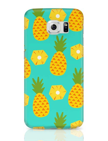 """Pineapple"" Sky Blue background Samsung Galaxy S6 Covers Cases Online India"