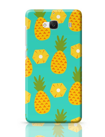 """Pineapple"" Sky Blue background Redmi 2 / Redmi 2 Prime Covers Cases Online India"