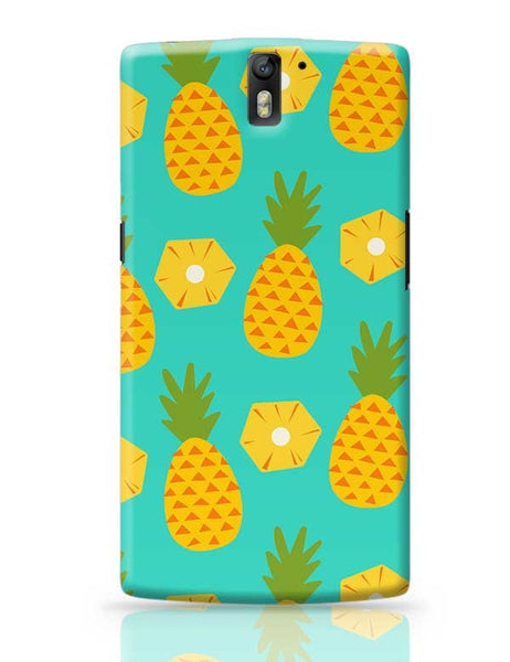 """Pineapple"" Sky Blue background OnePlus One Covers Cases Online India"