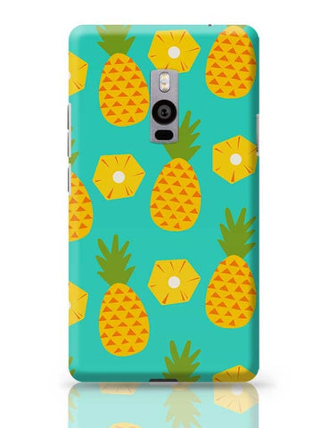 """Pineapple"" Sky Blue background OnePlus Two Covers Cases Online India"