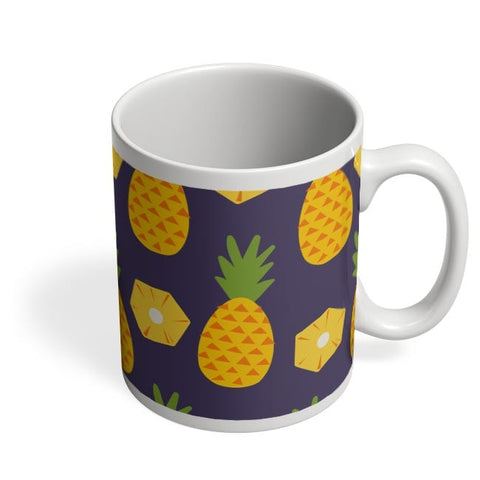 """Pineapple""  Blue background Coffee Mug Online India"