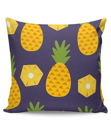 """Pineapple""  Blue background Cushion Cover Online India"