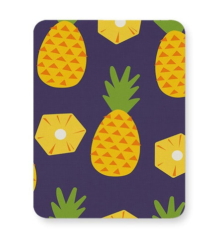 """Pineapple""  Blue background Mousepad Online India"