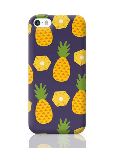 """Pineapple""  Blue background iPhone 5/5S Covers Cases Online India"