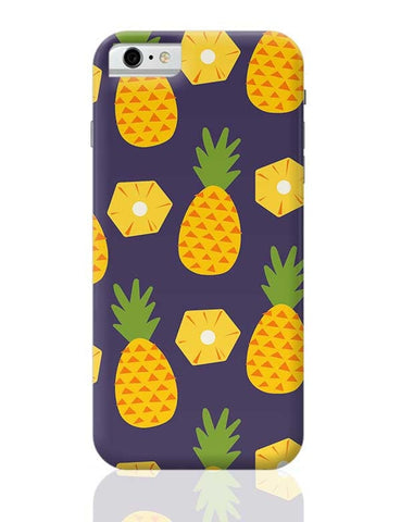 """Pineapple""  Blue background iPhone 6 6S Covers Cases Online India"