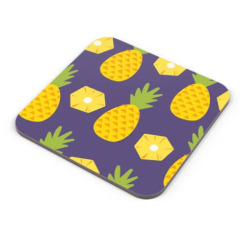 """Pineapple""  Blue background Coaster Online India"
