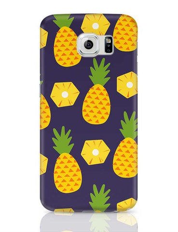 """Pineapple""  Blue background Samsung Galaxy S6 Covers Cases Online India"