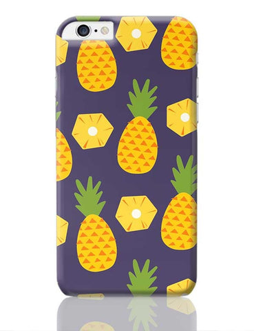 """Pineapple""  Blue background iPhone 6 Plus / 6S Plus Covers Cases Online India"